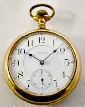 Vanguard Waltham Mass 21J 18S OF LS Full DMK Adj NI DMK RGJS Serial No. 10584108 M1892 Pocket Watch