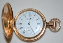 Waltham 6S Multicolor Hunting Case Pocket Watch with Diamond