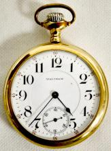 Waltham Vanguard 19J 16S OF LS DMK Adj 5 Pos RGJS Pocket Watch with Serial No. 16136900