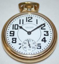 Waltham Premier 21J 16S OF LS Adj Temp Pocket Watch with Serial No. 30702331