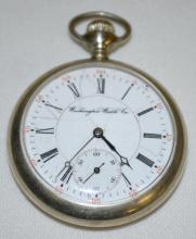 Illinois/Washington Watch Co. Monroe Model Pocket Watch with 15J 16S OF 3/4 wavy line DMK and Serial No. 2623964