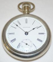 American Waltham 15J 18S OF SW Full NI DMK Pocket Watch with Serial No. 10151986