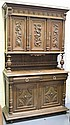 An early 20th Century French oak buffet, the
