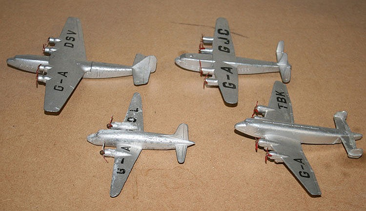A Dinky Toys No. 62p Armstrong Whitworth airliner,