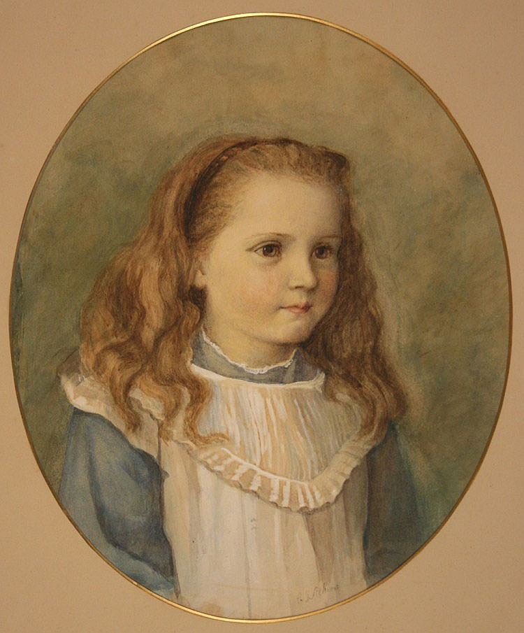 Catherine J. Atkins - Oval Portrait of a Girl