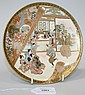 A Japanese Satsuma earthenware circular plate by