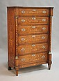 An early 19th Century Dutch mahogany tallboy with