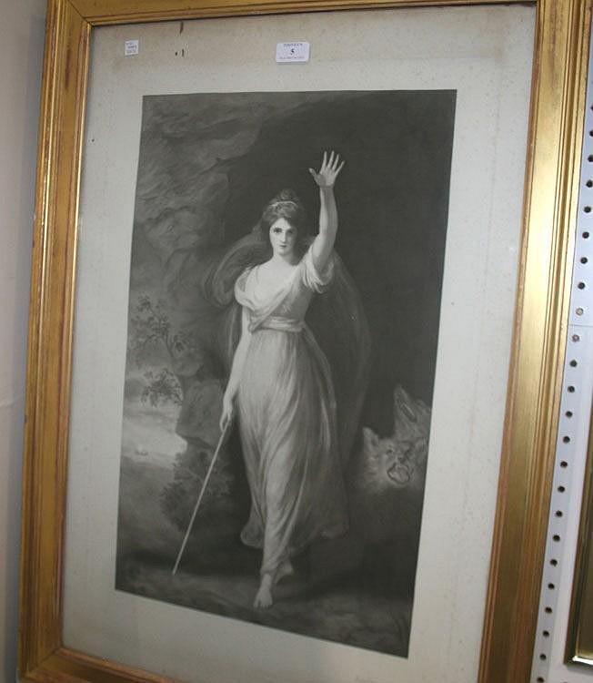 A late 19th Century monochrome mezzotint by H.