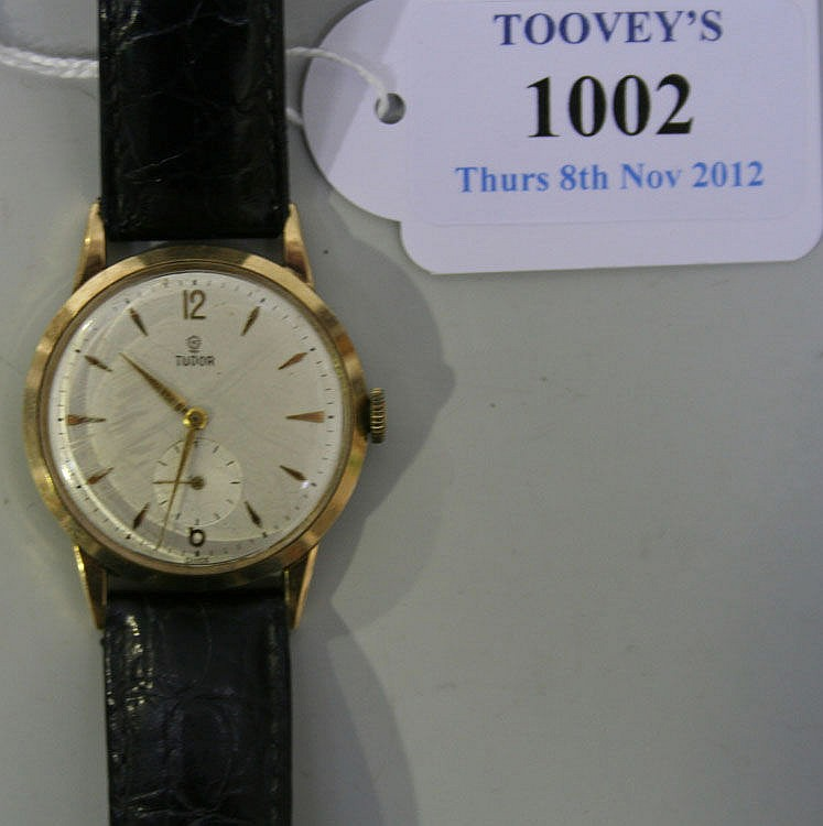 A Rolex Tudor 9ct gold circular cased gentleman's