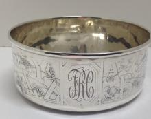 STERLING SILVER CHILDS BOWL, Bailey, Banks & Biddle Co