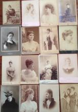 CABINET CARDS 'ROYAL WOMAN IN HISTORY' (16), 19TH CENTURY