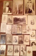 CABINET CARDS AND CARTE-DE-VISITE 'ROYALTY, POPES, HISTORIC FIGURES' (24), 19TH CENTURY