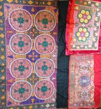 CENTRAL ASIAN EMBROIDERED SUZANIS (3)