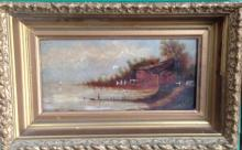 19 TH CENTURY CONTINENTAL OIL PAINTING, 'LANDSCAPE'