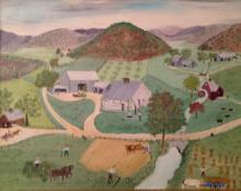 AMERICAN FARM FOLK PAINTING, R. ROACH