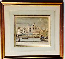 DUTCH 18TH C ENGRAVING, ROTTERDAM, PETER SCHENK (1660 - 1713)