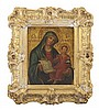 ITALIAN SCHOOL (19TH CENTURY) MADONNA AND CHILD 16.5cm high, 13cm wide excluding frame
