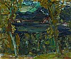 § SIR WILLIAM MACTAGGART P.R.S.A., R.A., R.S.W. (SCOTTISH 1903-1981) LOCH THROUGH THE TREES 29cm x 34.5cm (11.5in x 13.5in)