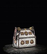 A fine 19th century copy of the Monymusk Reliquary 10cm high, 10.5cm wide