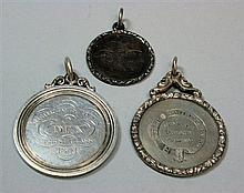 A group of three Victorian school medallions , ENG 4.7cm, 4.4cm and 3.5cm diameter (excluding suspension)