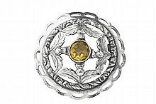Inverness - a Scottish provincial plaid brooch 5.2cm diameter