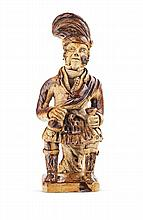 A salt glazed figure of a Highlander 24cm high