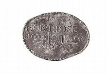 A Montrose lead beggars badge 11cm wide
