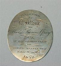 A William IV / Victorian dux medal 3.8cm high, 4.3g