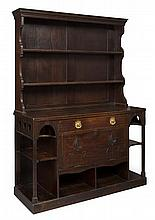 ATTRIBUTED TO TALWIN MORRIS STAINED MAHOGANY DRESSER, CIRCA 1900 152.5cm wide, 217cm high, 59.5cm deep