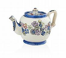 § JESSIE MARION KING (1875-1949) CERAMIC TEAPOT & COVER, CIRCA 1930 11.5cm high