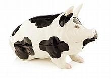WEMYSS WARE LARGE PIG FIGURE, POST 1930 40cm long