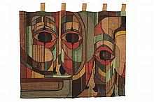 SCOTTISH SCHOOL WOVEN WALL HANGING, MID 20TH CENTURY 86cm x 106cm