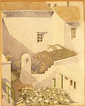 § KEITH HENDERSON (1883-1982) 'A LITTLE COURTYARD IN NERJA'