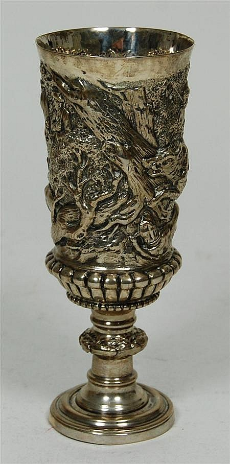 A 19th century German goblet 17.5cm high, 7.8oz