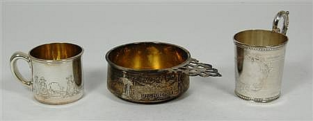 Cartier - an American child's porringer Porringer 16cm wide, combined weight 11oz