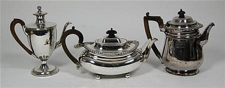 An old Sheffield plate tea pot