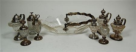 A Dutch glass swing handled basket Basket 33cm wide