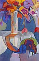 § JEANETTE LASSEN (SCOTTISH D.2008) TABLESCAPE 93cm x 61cm (36.5in x 24in)