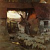 CHARLES HODGE MACKIE R.S.A., R.S.W. (SCOTTISH 1862-1920) THE RETURN OF THE FLOCK TO THE FOLD 152.5cm x 152.5cm (60in x 60in)