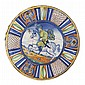ITALIAN MAIOLICA 'GALLOPING HORSEMAN' DISH DERUTA, 2ND QUARTER 16TH CENTURY, POSSIBLY FROM THE MANCINI WORKSHOP 41cm diam, 8.4cm hig.