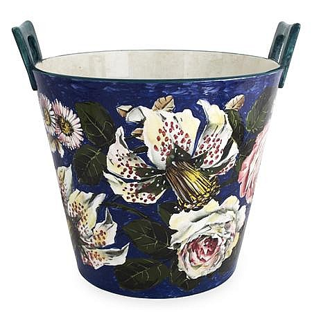 KAREL NEKOLA (1857-1915) FOR ROBERT HERON & SONS 'WEMYSS WARE' TUB FLOWER POT, CIRCA 1910 27.5cm high