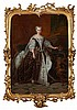 CIRCLE OF JEAN-BAPTISTE VAN LOO FULL LENGTH PORTRAIT OF MARIA LESZCZYNSKA, WIFE OF LOUIS XV OF FRANCE 52cm x 38cm (20.5in x 15in)