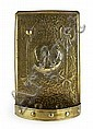 * GLASGOW SCHOOL BRASS WALL SCONCE, CIRCA 1910 38cm (15in) high