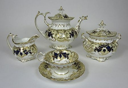 COALPORT PORCELAIN PART TEA SERVICE