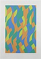 § BRIDGET RILEY C.H., C.B.E (BRITISH B.1931) SYLVAN 97cm x 69.5cm (38.25in x 27.25in)