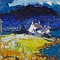 § JOHN LOWRIE MORRISON O.B.E (SCOTTISH B.1948) SCARBA FROM LUING, AUTUMN 25.5cm x 25.5cm (10in x 10in)