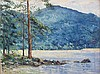 § FERGUS O'RYAN R.H.A. (IRISH 1911-1989) WATERS EDGE, TORC MOUNTAIN, KILLARNEY 40cm x 56cm (16in x 22in)