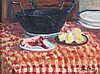 § PAUL LUCIEN MAZE (FRENCH 1887-1979) STILL LIFE - PREPARING STEW 28cm x 39cm (11in x 15.25in)