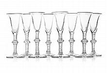 NEAR SET OF CONTINENTAL DRINKING GLASSES 18TH/ 19TH CENTURY 16.5cm high