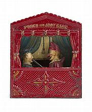 AMERICAN CAST IRON 'PUNCH AND JUDY BANK', BY SHEPARD HARDWARE CIRCA 1884 16cm wide, 19cm high